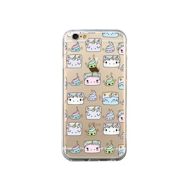 coque iphone 6 et 6s licorne unicorn cute swag transparente claudia ramos