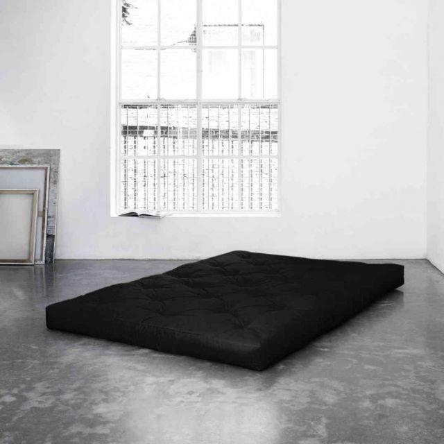 TERRE DE NUIT Matelas futon noir 15 cm COMFORT 160x200