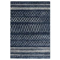 Tapis de salon Berbère bleu blanc 120x170cm
