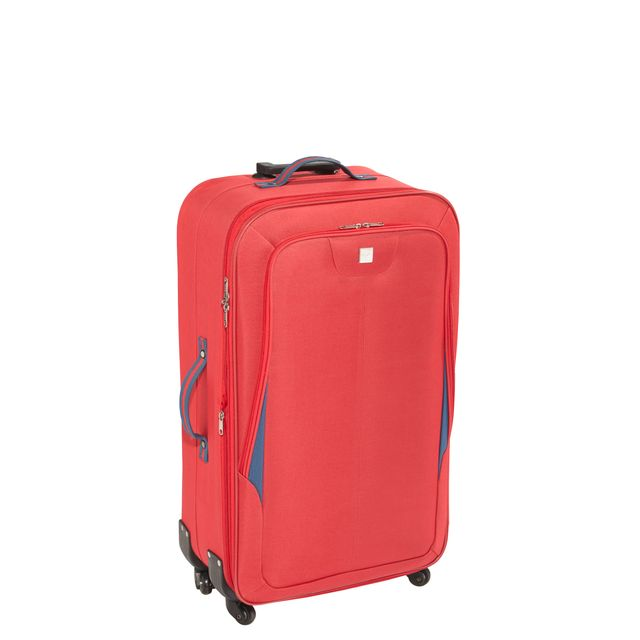 valise carrefour 4 roues CARREFOUR - DESTINATION - Valise Polyester - 4 roues - 79 cm - Rouge -  1015MD