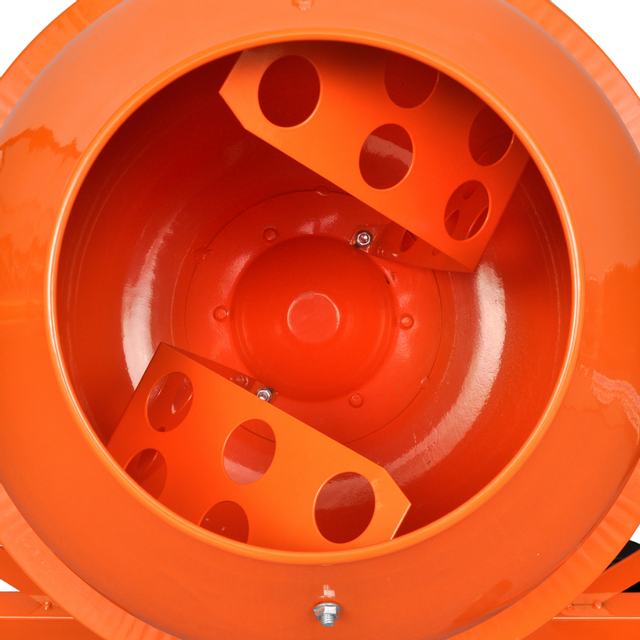Rocambolesk - Superbe Bétonnière électrique en acier orange 63 L 220 W Neuf