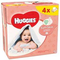 Huggies - Lingettes Soft Skin enrichies Vitamie E -4x56