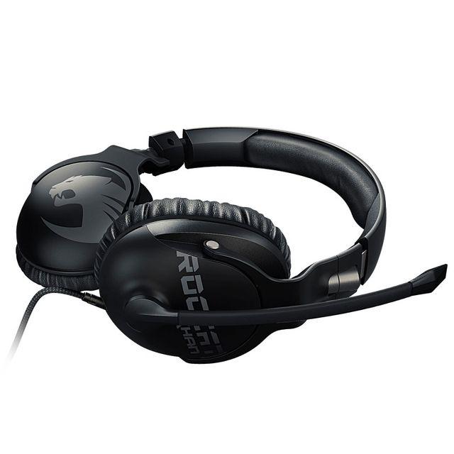 ROCCAT Casque Khan Pro Noir Conçu pour la compétition, leROCCAT Khan Proest le premier casque gamer à être certifié Hi-Res Audio et qui vous met au coeur de l'action et du jeu. Avec sa large gamme de fréquences (de 10 Hz à 40 KHz), le Khan Pro vous proc