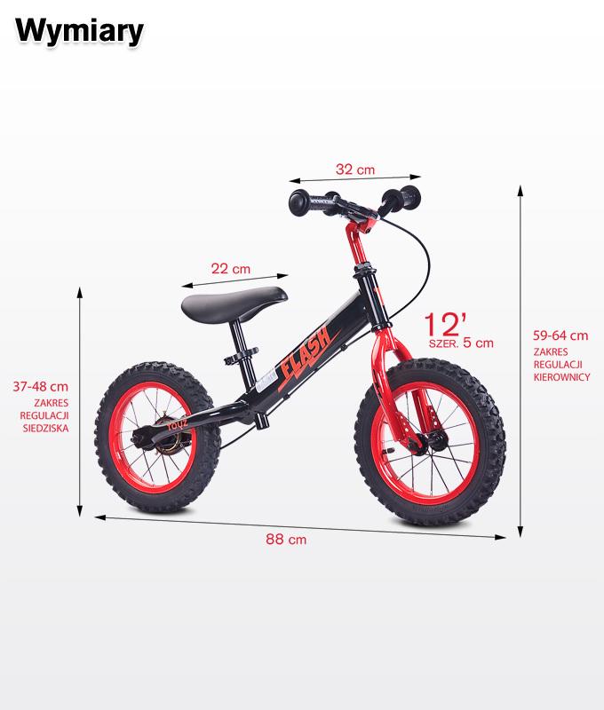 Vélo sans pédales / Draisienne enfant enmétal 3-6ans Flash | Blanc