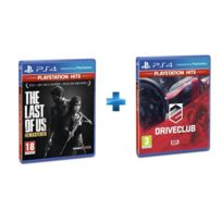 SONY - 2 jeux PS4 HITS : THE LAST OF US REMASTERED + DRIVECLUB