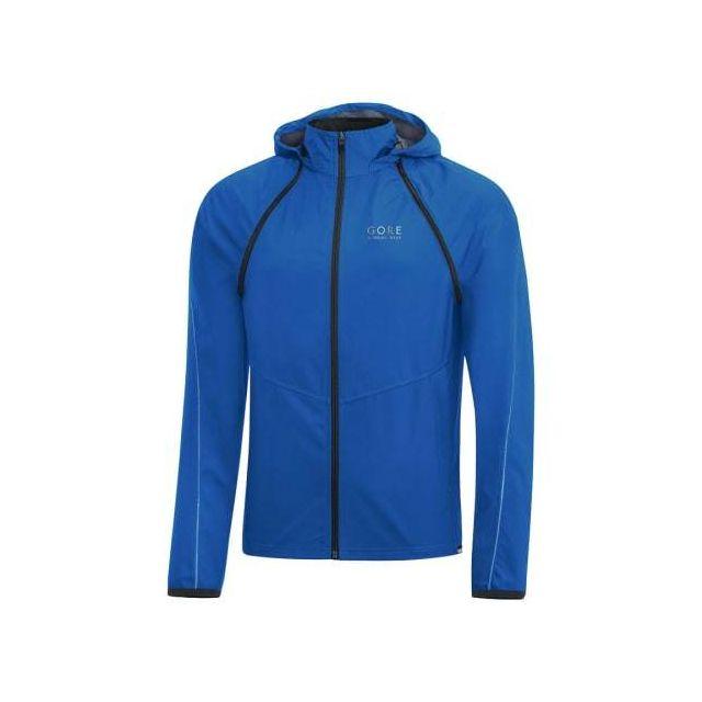 Gore Running Wear Veste Essential Gws Zip-Off Windstopper bleu