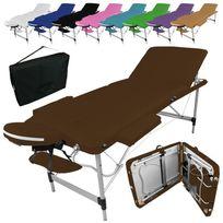 VIVEZEN - Table de massage pliante 3 zones en aluminium + accessoires et housse de transport