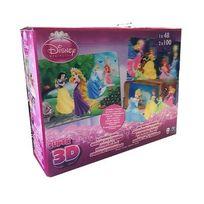 Spin Master - Disney Princesse - Disney Princesses-Boîte 3 Puzzles Image Effet 3D
