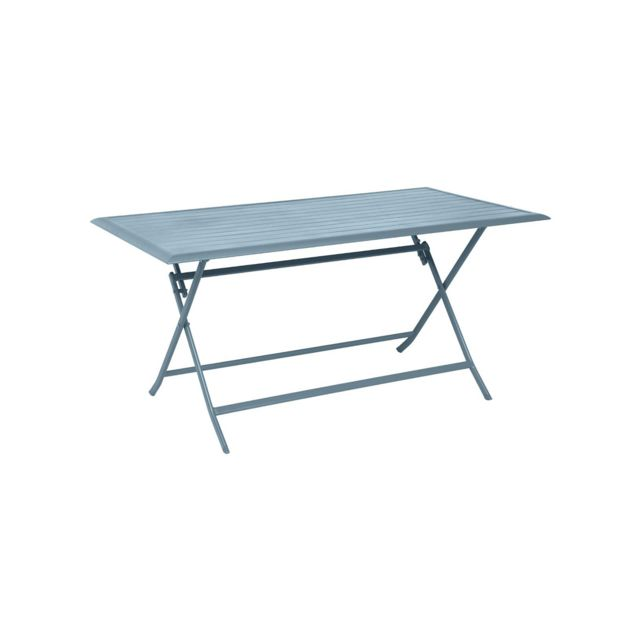 Hesperide table de jardin rectangulaire azua 4 places bleu for Table jardin bleu