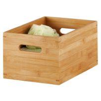 Zeller Present - Caisse de rangement en bois de bambou zeller 40 x 30 x 21