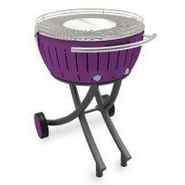 LOTUSGRILL - barbecue à charbon portable 60cm lilas avec housse - lg-li-600