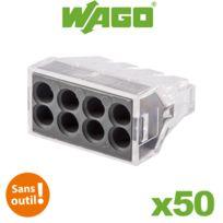 Wago - Pot de 50 bornes bornes de connexion automatique 8 entrées S273