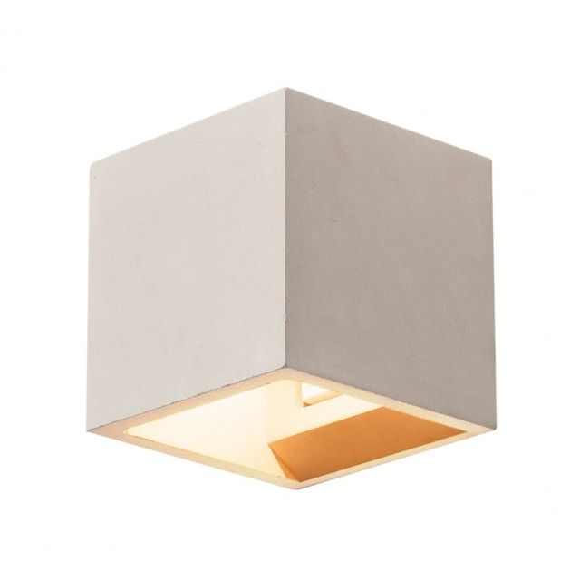 Slv Solid Cube, applique, gris, Qt14 max. 25W