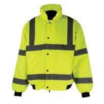 Destockoutils - Veste blouson de chantier haute visibilité imperméable conforme En471 L 39-42 100-108cm