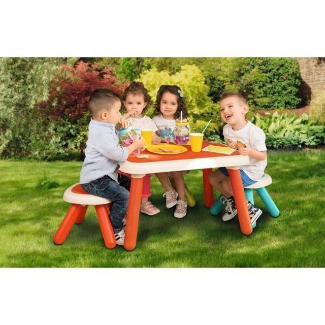 BUREAU BEBE - ENFANT - Kid Table Intérieure / Extérieure Rouge