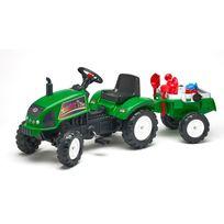 Falk / Falquet - Tracteur à pédales FarmTrac vert avec remorque et accessoires