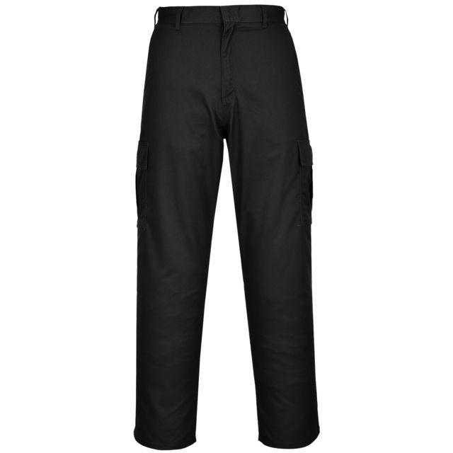 Portwest Pantalon de travail - Homme Lot de 2, Taille 91 cm x Régulier, Noir Utrw6959
