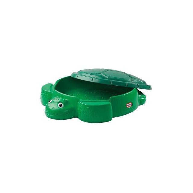 little tikes - tortue bac a sable bicolore avec couvercle - pas