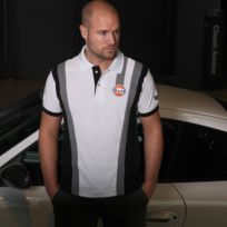 Gulf - Polo Sport Racing blanc pour homme taille S