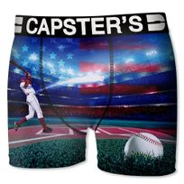 Capster'S Official - Boxer Homme Microfibre Bas Bleu Rose