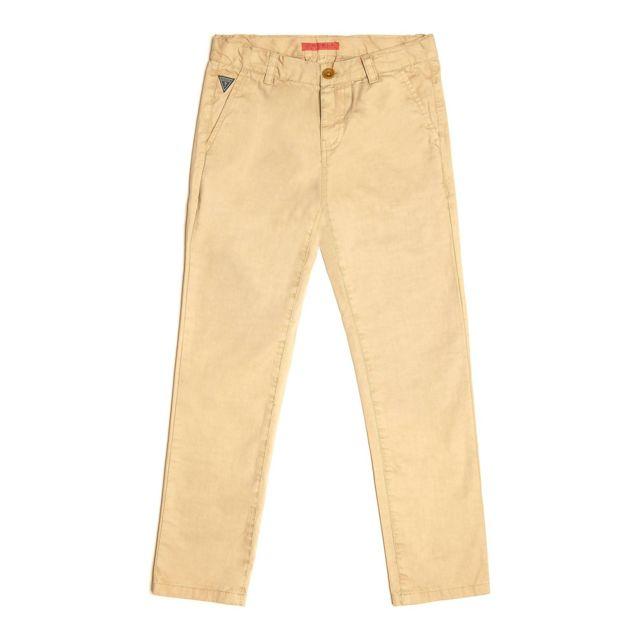 c771ea3fa0c49 Guess - Pantalon Chino Garçon Marron - Taille - 8 ans - pas cher Achat /  Vente Jean enfant - RueDuCommerce