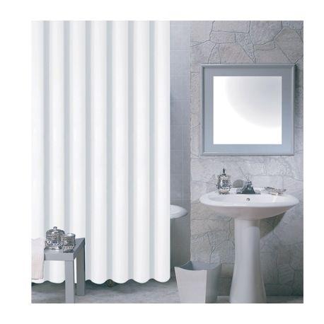 msv rideau de douche pva 180x200 blanc pas cher achat vente rideaux douche rueducommerce. Black Bedroom Furniture Sets. Home Design Ideas