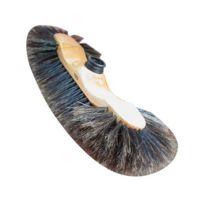 Domergue - Balai 1/2 tête en bois - fibre de soie 60 mm - marron