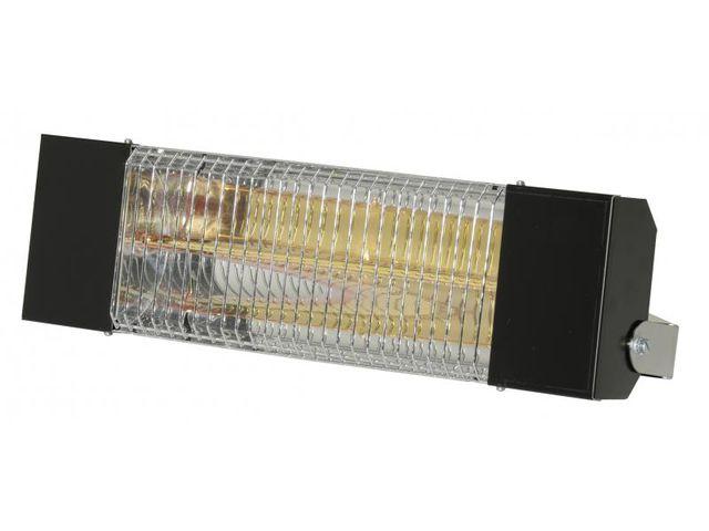 Sovelor - Chauffage radiant infrarouge électrique Ipx5 halogènes à quartz. Epoxy noir - Irc1500CN