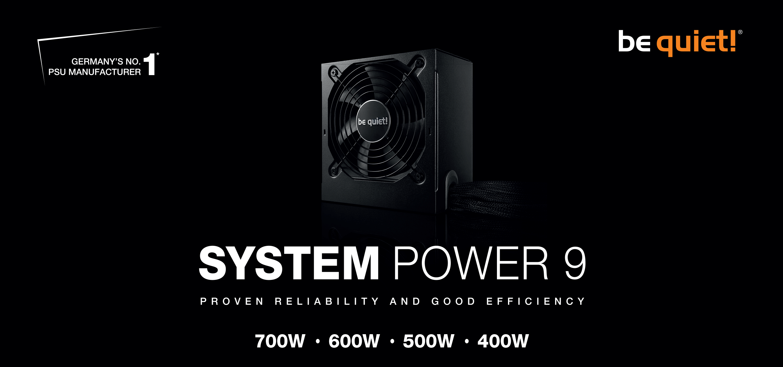 Alimentation System Power 9 500W 80 Plus Bronze Be Quiet