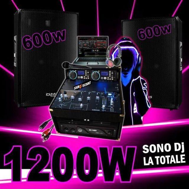 Ibiza Sound Pack dj avec 2 enceintes 600w - ampli 1000w - double cd - mixage usb dj casque dj sono complète