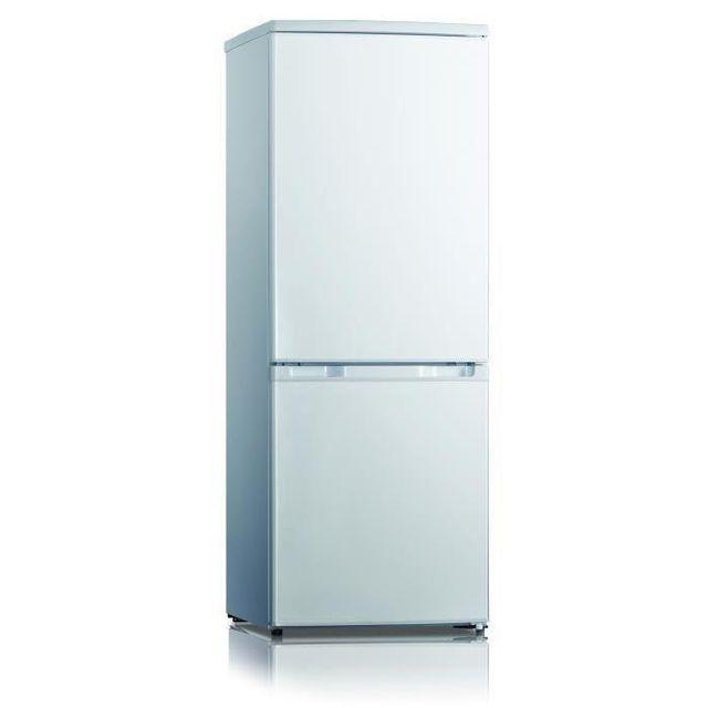 FRIGELUX Réfrigérateur congélateur 2 portes CB147A - Volume brut: 163L (Volume net :160L; réfrigérateur : 115L et congélateur : 45L)- 2 clayettes verre + 3 tiroirs- Classe énergétique: A+- Bonde de dégivrage- Port