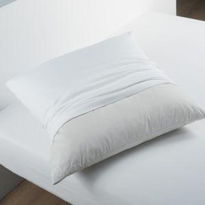 douceur d 39 interieur prot ge oreiller molleton 100 coton blanc 60cm x 60cm pas cher achat. Black Bedroom Furniture Sets. Home Design Ideas