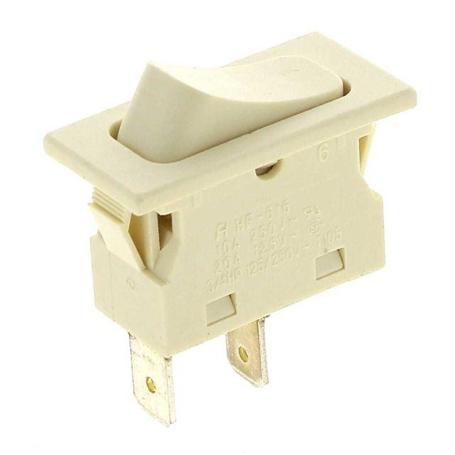 Brandt Interrupteur 2 cosses blanc impulsion pour Lave-vaisselle
