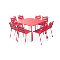 Table jardin metal carre - catalogue 2019 - [RueDuCommerce - Carrefour]