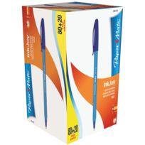 Inkjoy - stylo bille papermate bleu - boite de 100 dont 20 gratuits