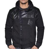 Armani - Jeans - Veste Zippée Capuche - Homme - B6m71 Bi Matière - Noir