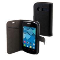 Muvit - Etui Slim Folio noir avec rabat Alcatel One Touch Pop C1