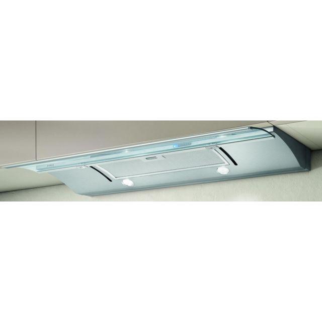 Elica Glide - Hotte - Téléscopique - largeur : 89.8 cm - profondeur : 28 cm - evacuation & recyclage - inox et verre