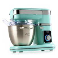 Domo - Robot de cuisine avec coupe légumes - Bol en inox brossé 4,5 Litres - Vitesse 8 niveaux - Design menthe
