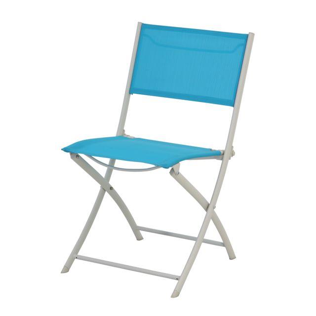 carrefour chaise de jardin tello pliante bleu pas. Black Bedroom Furniture Sets. Home Design Ideas