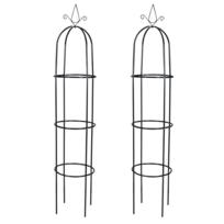 Vidaxl - Arche de jardin en forme Tour 2 pièces