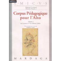 Editions Mardaga - Librairie, Papeterie, Dvd. Laine F Corpus Pedagogique Pour L'alto Vol. 1 Technique Soldes