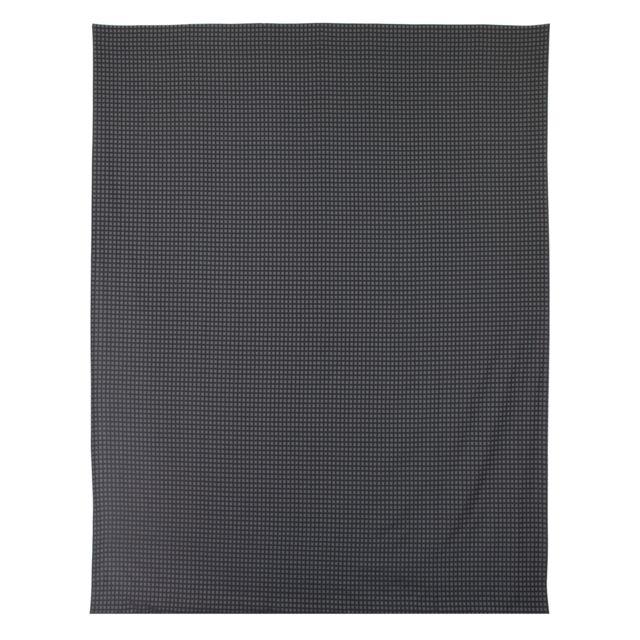 linnea drap plat 240x310 cm satin de coton trocadero gris anthracite multicolore nc pas. Black Bedroom Furniture Sets. Home Design Ideas