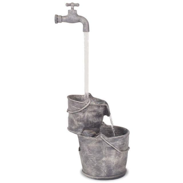 Icaverne - Fontaines et cascades selection Fontaine avec robinet et seaux  Polyrésine