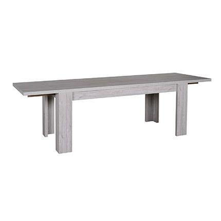 Table rectangulaire avec 2 allonges bois naturel - Gregoria