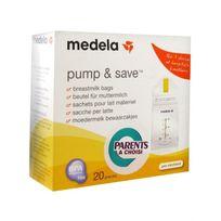 Medela - Pump & Save 20 Sachets pour Lait Maternel 150ml