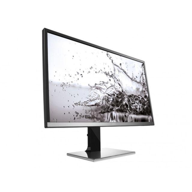 AOC Q3277PQU La résolution QHD stupéfiante de 2560 x 1440 pixels procure des images nettes et claires, jusque dans les moindres détails. Le support réglable en hauteur s'incline, bascule et pivote de 90 degrés, pour une