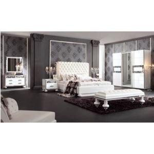 chloe decoration lit design collection luxury avec t te de lit capitonn e coffre et sommier. Black Bedroom Furniture Sets. Home Design Ideas