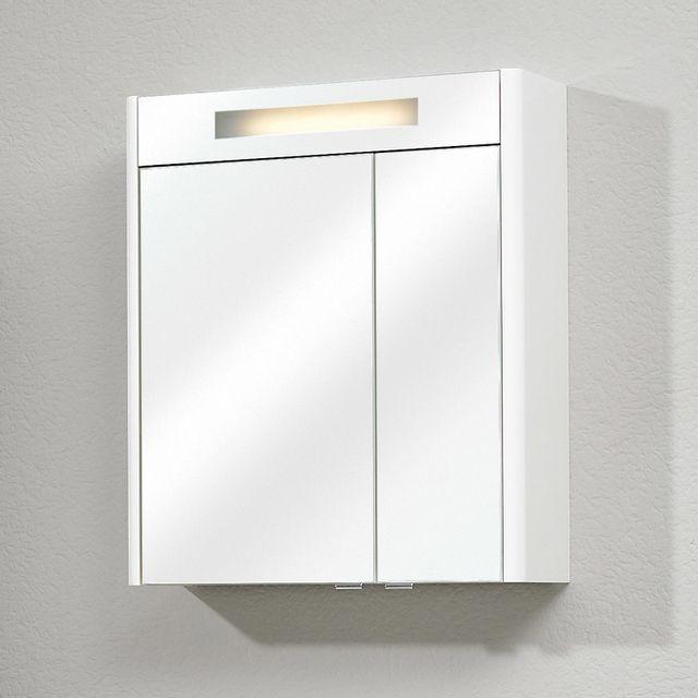 marque generique armoire de toilette 3 portes miroir avec clairage l90 cm neville nc pas. Black Bedroom Furniture Sets. Home Design Ideas