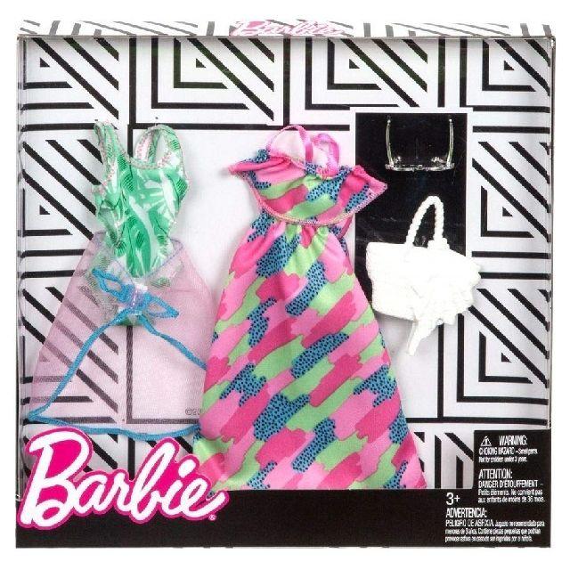 Barbie - Coffret 2 Habits   Maillot de Bain et Pareo + Robe + Accessoires -  Tenue De Plage - Vetement Poupee - pas cher Achat   Vente Poupées - ... 4b1b25752120